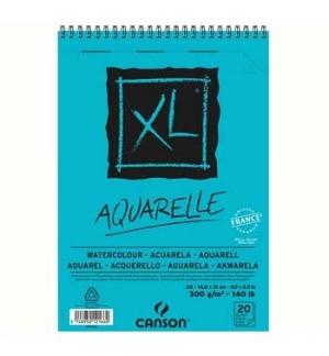 Bloco Espiralado Canson XL Aquarelle A5 300gr 20 Folhas