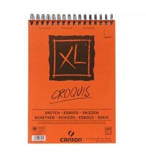 Bloco Espiralado Canson XL Croquis A4 90gr 120Fls