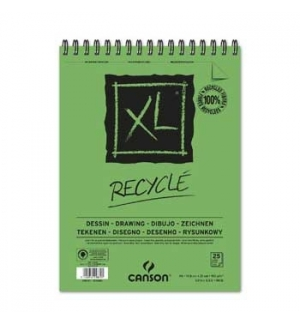 Bloco Espiralado Canson XL Recycle A5 160gr 25F