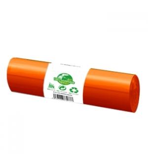 Sacos Lixo Plástico 100/120L Biod Laranja 40kg 85x105cm 20u