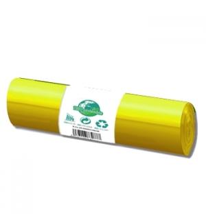 Sacos Lixo 100/120L Amarelo 20Kg 85x105cm Rolo 20un