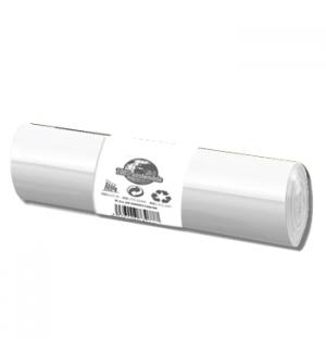 Sacos Lixo 30L Branco 45x50cm Rolo 50un