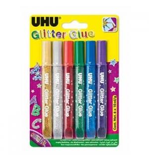 Marcadores Glitter Young Creativ Cores Escuras 6 x 10ml