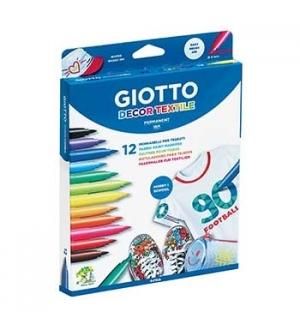 Marcador Tecidos Giotto Decor Cores Sortidas - 12un
