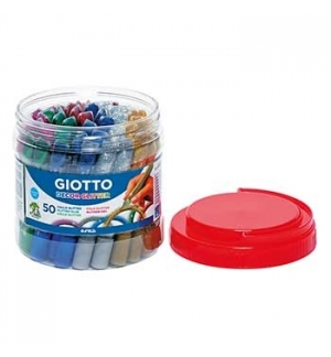 Marcadores Giotto Glitter Glue Cores Sortidas 50x10,5ml