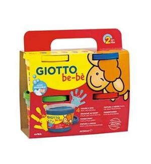 Guache Pintura Dedos Giotto Be-Be 4 cores