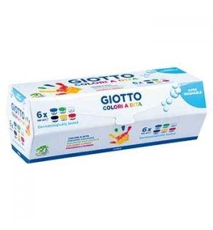 Guache Pintura Dedos Giotto Dita 100ml Pack 6 Cores