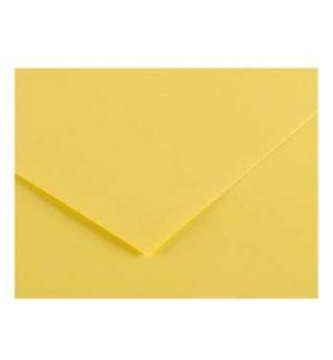 Cartolina 185gr 1 Folha 50x65cm Canson Iris Amarelo Limao