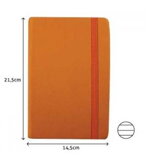 Bloco Notas Pautado 21,5x14,5cm Semi Pele Amarelo 116 Folha)