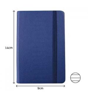 Bloco Notas Pautado 14x9cm Semi Pele Azul 116 Flh agenda