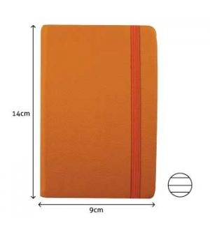 Bloco Notas Pautado 14x9cm Semi Pele Amarelo 116 Flh agenda