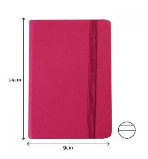 Bloco Notas Pautado 14x9cm Semi Pele Rosa 116 Flh agenda