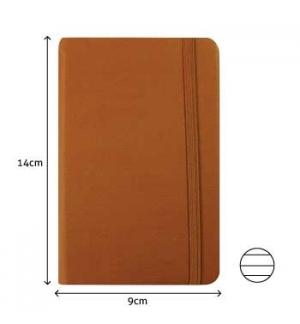 Bloco Notas Pautado 14x9cm Semi Pele Camel 116 Flh (agenda)