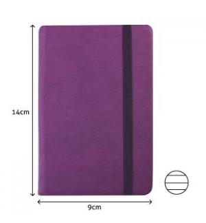Bloco Notas Pautado 14x9cm Semi Pele Roxo 116 Flh agenda