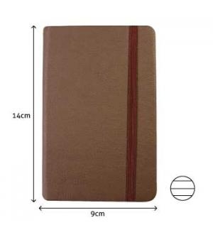Bloco Notas Pautado 14x9cm Semi Pele Castanho 116 Flh agenda