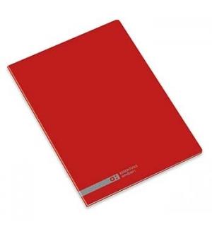 Caderno Agrafado Ambar School A5 Pautado 70gr 48Fls Vermelho