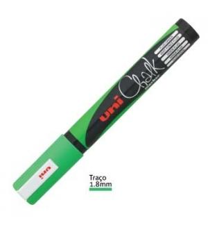 Marcador Giz Chalk UNI PWE-5M Verde Fluorescente 1un
