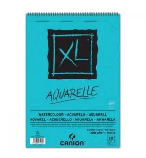 Bloco Espiralado A3 Canson XL Aquarelle 300gr 30 Folhas