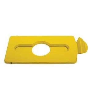 Tampa Slim Jim p/ Kit Reciclagem p/ Garrafas/Latas Amarelo