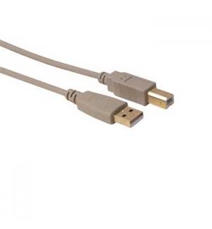 Cabo USB basic 2.0 A/USB B m/m contatos dourados 2,5mt