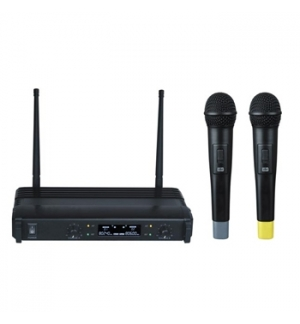 Conjunto 2 Microfones UHF wireless + receptor low cost