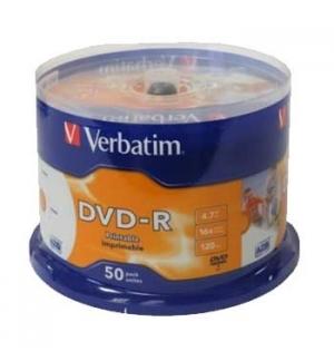 DVD-R Verbatim 4.7GB 16X Spindle Pack 50 Printable