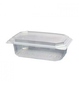 Embalagem Alimentar 1000ml  PP Plástico Retangular Tampa 60u