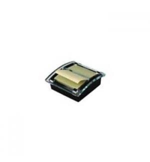 Dispensador Bloco Adesivo Zig-Zag + 1 Bloco 50Fls Amarelo