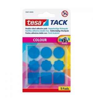 Almofadas Bi-Adesivas Tesa TACK Formas Azul 9un