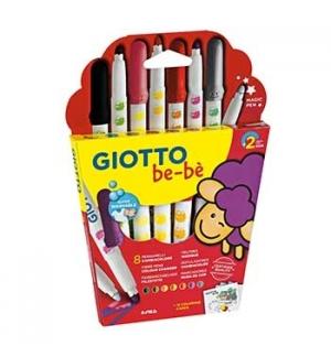 Super Marcador Feltro Giotto Be-Be muda de cor 8unid