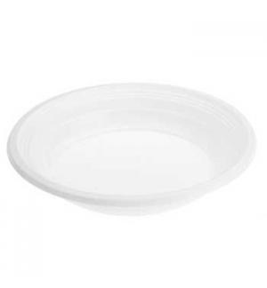 Pratos Plástico Sopa Branco F26 205mm 50un
