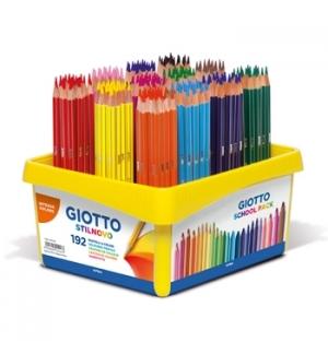 Lápis Cor 18cm Giotto Colors 3.0 Cx Schoolpack 192un