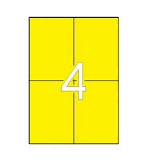 Etiquetas 105x148 Apli 20 Folhas A4 80un Amarelo