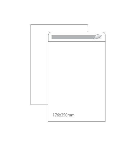 Envelopes Saco 176x250mm Branco 90gr Autodex Cx250un (B5)