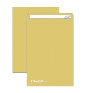 Envelopes Saco 176x250mm Kraft 90gr Autodex Cx250un (B5)