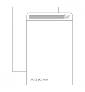 Envelopes Saco 250x353mm Branco 90gr Autodex Cx250un