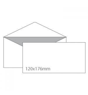 Envelopes 120x176mm  Branco c/Pala em Bico CX500Un