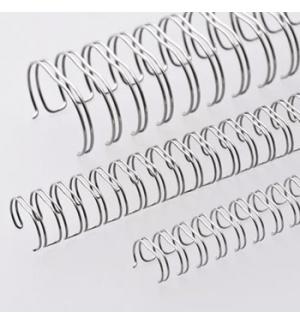 Argolas Metalicas Encadernar Passo 2:1 11mm Cx100un Prata