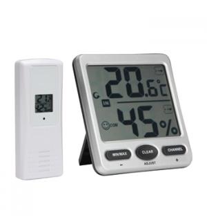 Termometro/Higrometro digital sem fios - visor grande