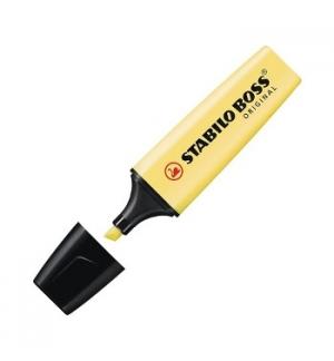 Marcador Fluorescente Stabilo Boss Pastel Amarelo 70/144 10u