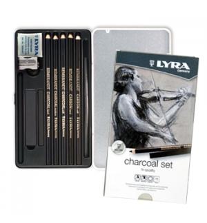 Lápis LYRA Rembrandt Set Carvão Cx Metal 11un
