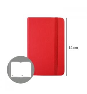 Bloco Notas Liso 14x9cm Semi Pele Vermelho 116 Folhas