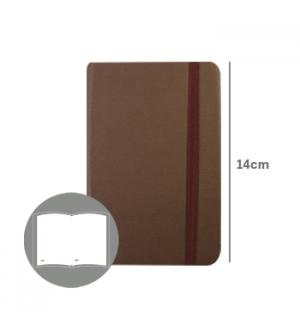 Bloco Notas Liso 14x9cm Semi Pele Castanho 116 Flh (agenda)