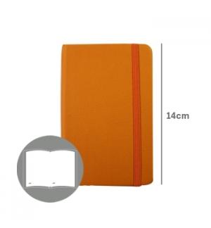 Bloco Notas Liso 14x9cm Semi Pele Amarelo 116 Folhas
