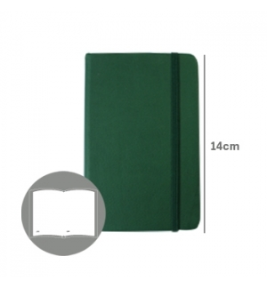 Bloco Notas Liso14x9cm Semi Pele Verde Esmeralda 116 Flh