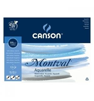 Bloco Colado Canson Montval 297x420mm 300gr 12 Folhas
