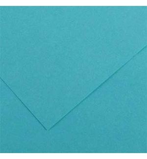 Cartolina 185gr 1 Folha 50x65cm Canson Iris Azul Turquesa