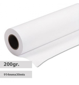 Papel 914mmx30mts Resin Coated Satin 200gr Evolution-Rolo