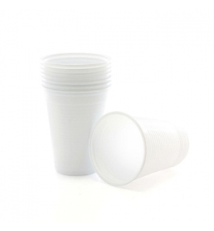 Copos Plastico 200ml Branco (Agua/Cha) -(Pack50)