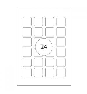 Etiquetas 24x24mm Apli 10 Folhas Branco 240un